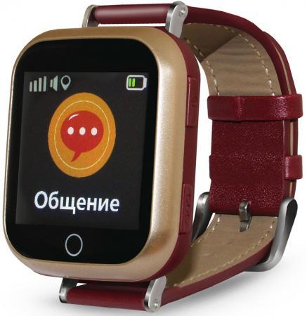 "Смарт-часы Ginzzu GZ-521 1.44"" IPS коричневый (00-00001096) цена и фото"