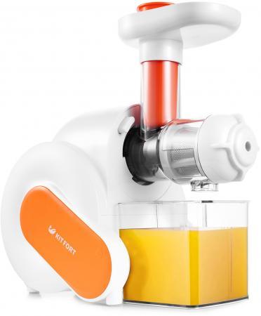 Соковыжималка KITFORT KT-1110-2 150 Вт белый оранжевый цена и фото