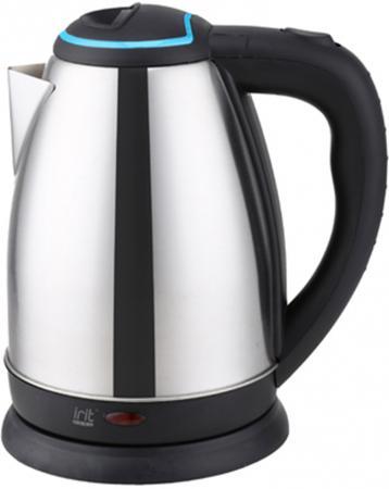 Чайник электрический Irit IR-1351 1500 Вт чёрный голубой 1.8 л нержавеющая сталь цена