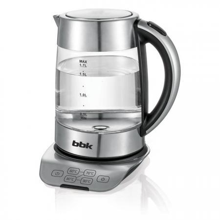 Чайник электрический BBK EK1723G 2200 Вт стальной 1.7 л пластик/стекло цена и фото