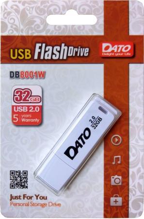 Фото - Флешка 32Gb Dato DB8001W-32G USB 2.0 белый usb flash drive 32gb dato ds7016 usb 2 0 silver ds7016 32g