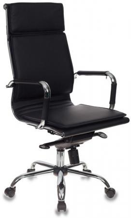 Кресло руководителя Бюрократ CH-993MB/BLACK черный искусственная кожа крестовина хром кресло руководителя бюрократ ch 994axsn черный искусственная кожа крестовина хром