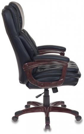 Кресло руководителя Бюрократ T-9918/BLACK черный рец.кожа/кожзам цена