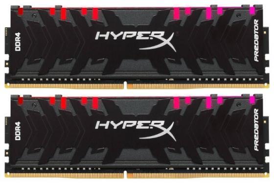 Модуль памяти DDR4 Kingston 32Gb KIT (16GbX2) 3200MHz HyperX PREDATOR RGB CL16 XMP [HX432C16PB3AK2/32] цена 2017