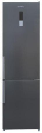 Холодильник SHIVAKI BMR-2018DNFX нержавеющая сталь shivaki холодильник shivaki shrf 601sdw нержавеющая сталь двухкамерный