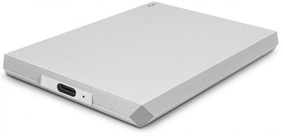 Накопитель на жестком магнитном диске LaCie Внешний жесткий диск LaCie STHG1000400 1TB LaCie Mobile Drive 2.5 USB 3.1 TYPE C Moon Silver внешний жесткий диск 2 5 usb3 0 thunderbolt 1tb lacie stev1000400 оранжевый