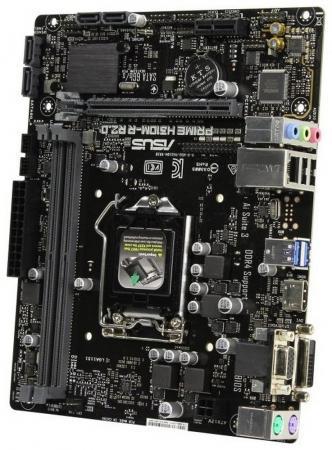 Материнская плата ASUS PRIME H310M-R R2.0 (SI) Socket 1151 v2 H310 2xDDR4 1xPCI-E 16x 1xPCI-E 1x 4 mATX OEM цена и фото