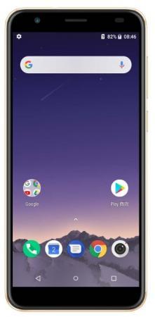 Смартфон ARK Benefit M9 16Gb 2Gb золотистый моноблок 3G 4G 2Sim 5.5 720x1440 Android 8.1 8Mpix 802.11 a/b/g/n BT GPS GSM900/1800 GSM1900 TouchSc MP3 FM A-GPS microSD смартфон ark benefit s504