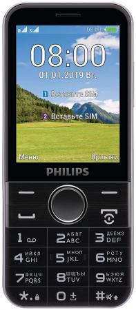 Мобильный телефон Philips E580 Xenium черный моноблок 2Sim 2.8 240x320 2Mpix BT GSM900/1800 GSM1900 MP3 microSD max32Gb мобильный телефон philips e570 xenium dark gray