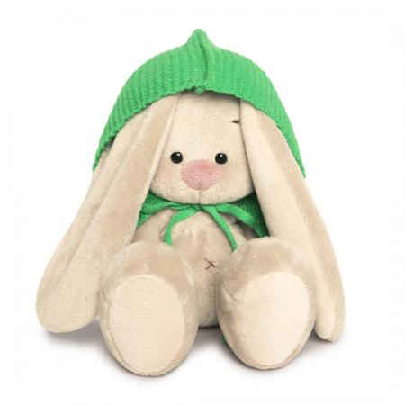 Мягкая игрушка зайка BUDI BASA Зайка Ми в зеленом пончо 15 см искусственный мех