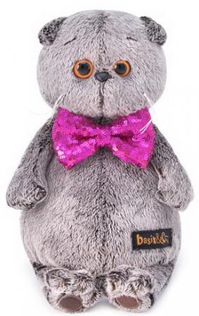 Мягкая игрушка кот BUDI BASA Басик в галстуке-бабочке в пайетках 30 см искусственный мех мягкая игрушка в пайетках сова 10см