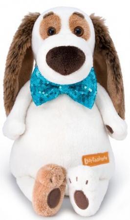 Мягкая игрушка собака BUDI BASA Бартоломей в галстуке-бабочке в пайетках 27 см искусственный мех мягкая игрушка в пайетках сова 10см