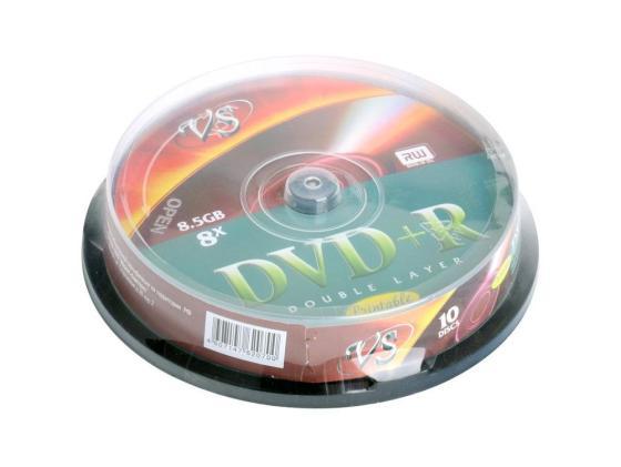 Диски DVD+R VS 8.5Gb 8х Double Layer printable CakeBox 10шт 62070 dvd r vs 4 7gb 16х 10шт cake box