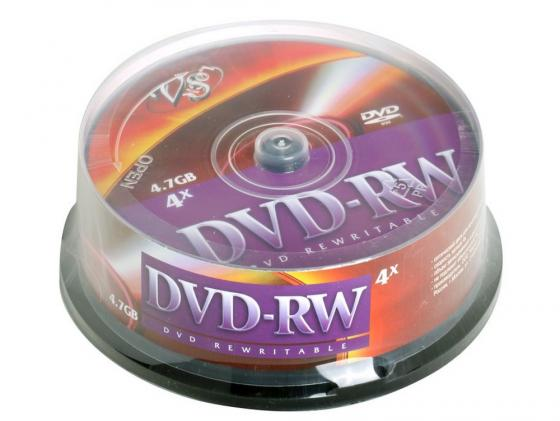Диски DVD+RW VS 4.7Gb 4х Cake Box 25шт paulmann 92787