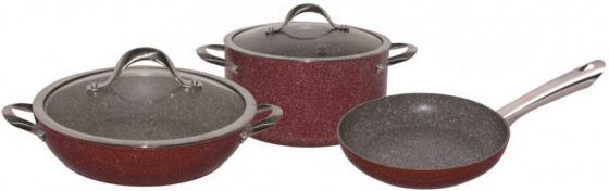 4610-BK Набор посуды BEKKER 5пр. с мраморным покр. GARNET.Состав: алюминий. сушилка для посуды bekker bk 5509