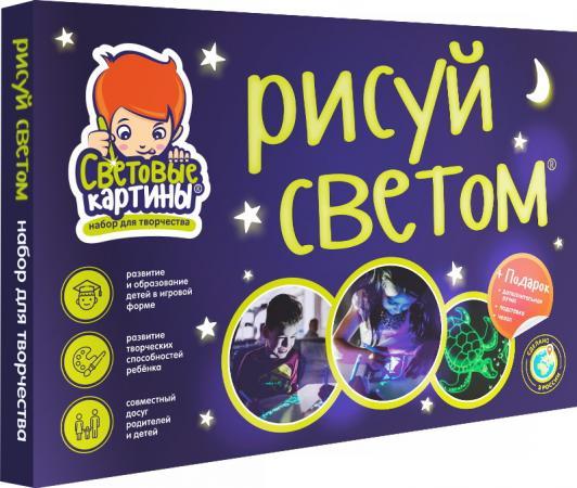 Набор СВЕТОВЫЕ КАРТИНЫ 10255 Рисуй Светом А4 Премиум светильник световые технологии 16909