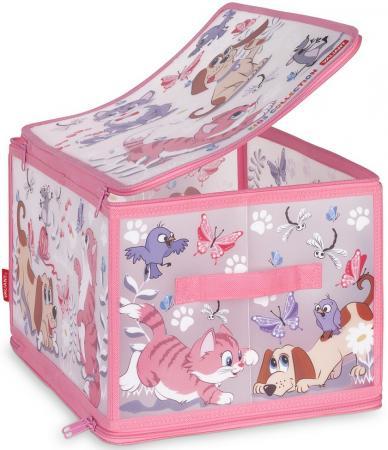Коробка для хранения VALIANT KCCD-ZIP-L Киски и собачки 40*30*25 см цена в Москве и Питере