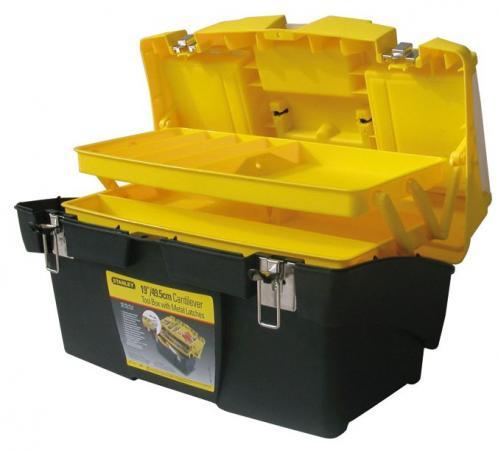 Ящик STANLEY 1-92-911 для инструмента с металлическими замками 49.5х26.5х26.1см ящик с органайзером stanley mega line cantilever 1 92 911 49 5x26 1x26 5 см черный желтый