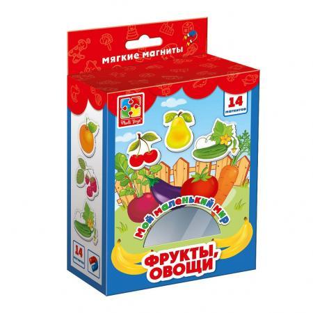 Магнитная игра развивающая Vladi toys Овощи, фрукты цена