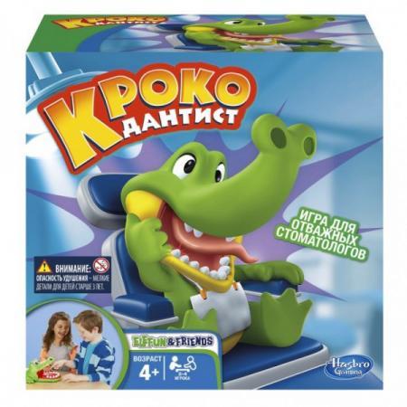 Настольная игра семейная HASBRO Крокодильчик дантист настольная игра hasbro моя первая монополия