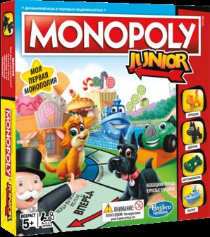 Настольная игра карточная HASBRO Монополия Джуниор hasbro настольная игры hasbro games монополия геймер
