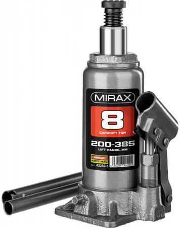 цена на Домкрат MIRAX 43260-8 гидравлический бутылочный 8т 200-385мм