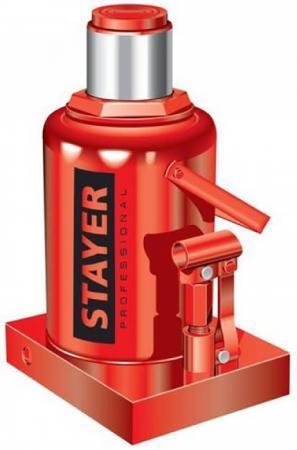 Домкрат STAYER 43160-30_z01 гидравлический бутылочный red force 30т 285-465мм
