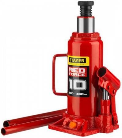 цена на Домкрат STAYER 43160-10_z01 гидравлический бутылочный red force 10т 230-460мм