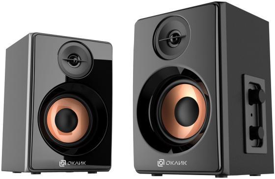 Колонки Oklick OK-163 2.0 черный 6Вт цена