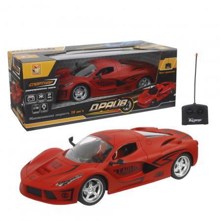 Машинка на радиоуправлении 1toy Драйв красный от 5 лет пластик, металл набор машинок 1toy драйв racing 10 шт т10338