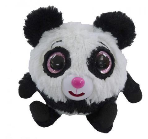 Интерактивная мягкая игрушка панда 1toy Дразнюка-Zoo Плюшевая панда 13 см белый черный розовый текстиль наполнитель пластик