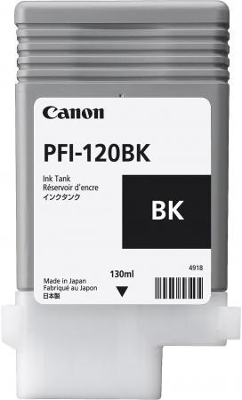 Картридж струйный Canon PFI-120 BK 2885C001 черный для Canon ТМ-серия картридж canon pfi 107 черный