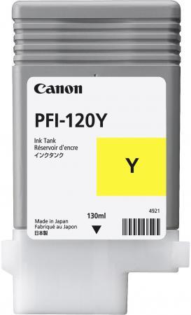 Картридж струйный Canon PFI-120 Y 2888C001 желтый для Canon ТМ-серия картридж струйный canon pfi 120 bk 2885c001 черный для canon тм серия