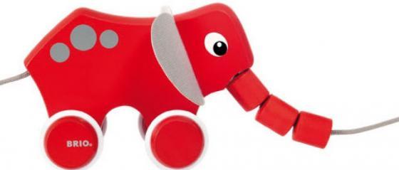 BRIO Каталка-слоник 19,2х8,3х10,4 см., кор. 25х14х10 см. цена