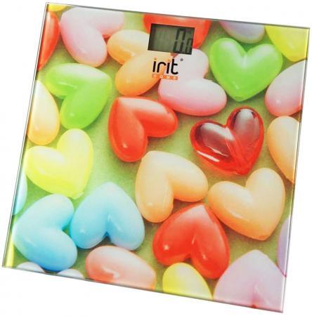 Весы напольные Irit IR-7259 разноцветный рисунок весы напольные irit ir 7312 серый