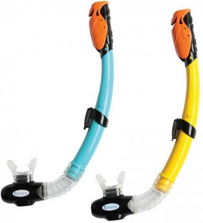 Спортивная игра трубка для плавания Intex Hyper-Flo в ассортименте ласты для плавания intex супер спорт в ассортименте