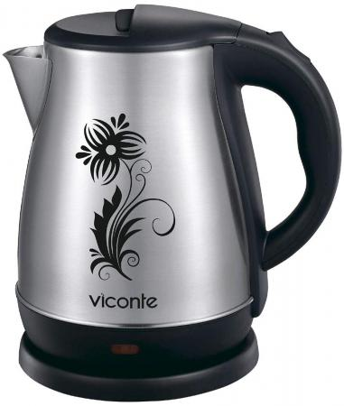 Чайник Viconte VC-3251 2200 Вт серебристый чёрный 1.8 л нержавеющая сталь недорого