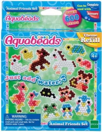 Набор для творчества 604 элемента Aquabeads Забавные животные