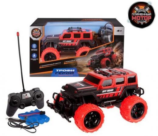 Джип Пламенный мотор Трофи Герой черно-красный от 4 лет пластик