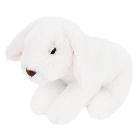 Мягкая игрушка зайка Fluffy Family 19 см белый искусственный мех трикотаж
