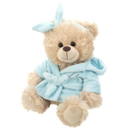 Купить Мягкая игрушка мишка Fluffy Family Домашний 20 см голубой бежевый искусственный мех трикотаж пластик, Мир животных