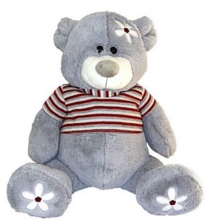 Мягкая игрушка мишка Fluffy Family Ромашка 45 см трикотаж искусственный мех пластик мягкая игрушка панда fluffy family крошка панда 30 см белый черный бежевый текстиль искусственный мех пластик 681241
