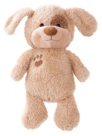 Мягкая игрушка щенок Fluffy Family Малыш 20 см коричневый бежевый искусственный мех трикотаж пластик полиэфирное волокно мягкая игрушка панда fluffy family крошка панда 30 см белый черный бежевый текстиль искусственный мех пластик 681241