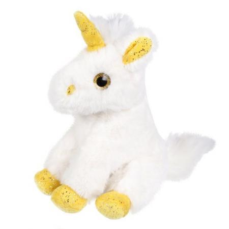 Мягкая игрушка единорог Fluffy Family Единорог 18 см белый искусственный мех трикотаж пластик