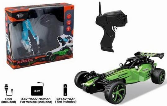 Купить Машина р/у, Багги Рейсинг, 1:24, аккум., USB зу, эл.пит.АА*2шт.не вх.в комплект, коробка, Наша Игрушка, Радиоуправляемые игрушки