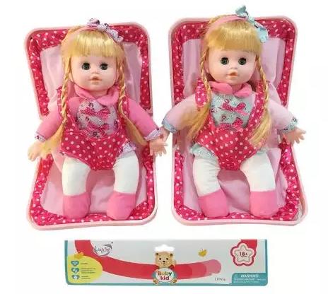 Кукла Наша Игрушка 35 см со звуком