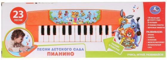 Электропианино Шаинский музыка 23 песни детского сада, на бат. в русс. кор. УМКА в кор.2*72шт