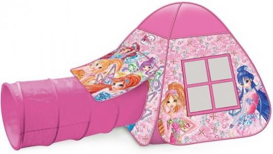 цена на Палатка детская игровая Winx с тоннелем, 87x95x95,46x100см, в сумке Играем вместе в кор.10шт