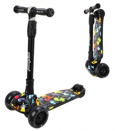 Самокат трехколёсный Moby Kids 641280 120/40 мм разноцветный цены онлайн