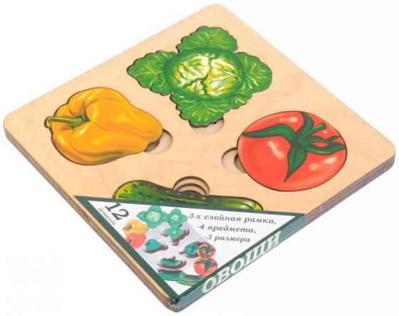 Рамка-вкладыш Нескучные игры Больше-меньше. Овощи рамка вкладыш нескучные игры больше меньше геометрия